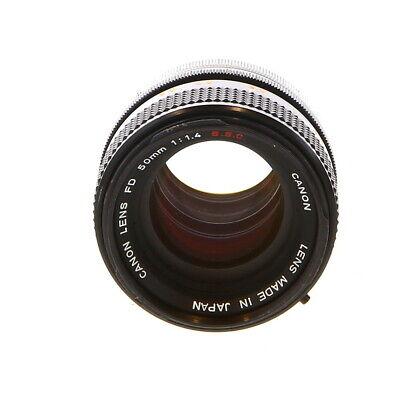 Canon 50mm F/1.4 SSC Breech Lock FD Mount Lens {55} Made in Japan - UG