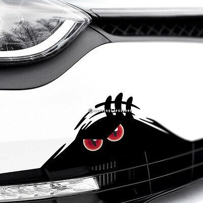 MONSTER DEVIL EYES PEEPER Scary Funny Car,Van,Bumper JDM DUB Vinyl Decal Sticker