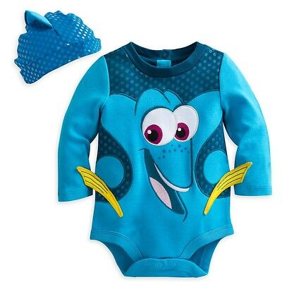 Dory Outfit (Disney Store Pixar Fest Finding Dory Baby Costume Outfit & Hat Set 0 3 6 9)