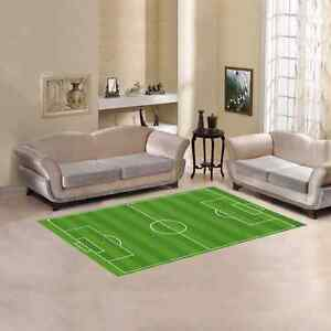 Football Soccer Grass Field Area Rug size 60