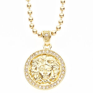 Iced Out Bling Fashion Kette - MICRO MEDUSA gold