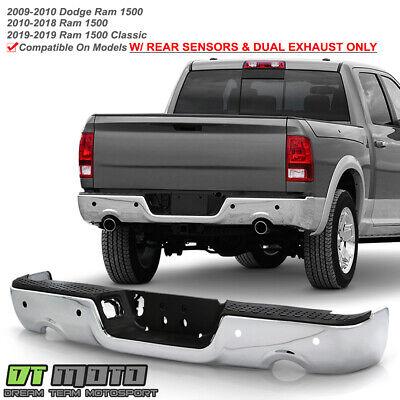 2009-2018 Dodge Ram 1500 w/Dual Exhaust & Sensor Holes Black Rear Step Bumper