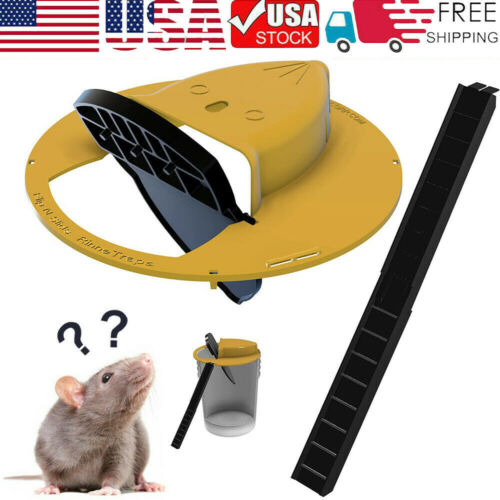 Slide Bucket Lid Mouse Rat Trap Flip N Slide Mouse Trap Bucket Mousetrap Catcher