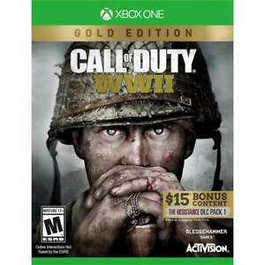 Call Of Duty WWII Gold Edition 2018 Activision Xbox One  - $4.25