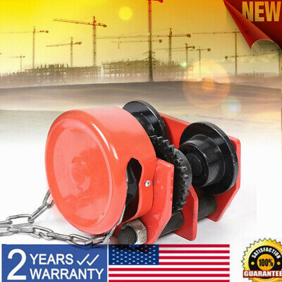 1 Ton Push Beam Trolley For I Beam Gantry Crane Hoist Winch Gcl-1 Monorail Car