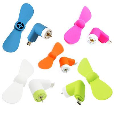 Mini ventilador portatil flexible micro para telefono movil Apple Iphone 5,6 ios