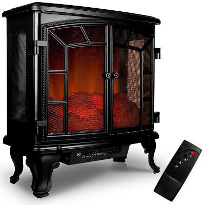Chimenea Eléctrica 2000V Calefactor Decoración 69x36x66cm 2 niveles de calor