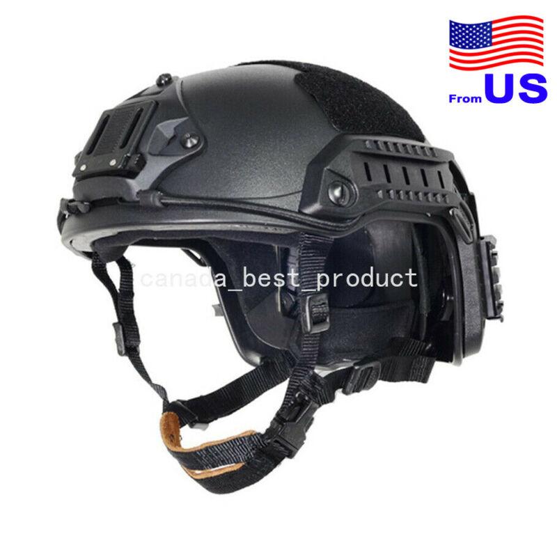 FMA Adjustable Maritime Helmet ABS For Airsoft Paintball Black USA