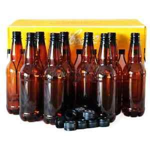 Coopers Bottles Plastic PET 500ml Screw Cap 24PK Home Brew Beer Lager Bottling