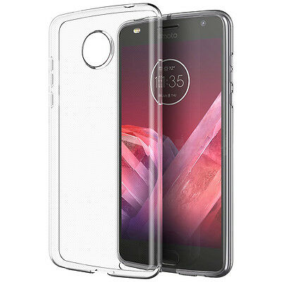 MOTOROLA MOTO Z2 FORCE - Transparent Clear Slim TPU Rubber Skin Phone Case Cover