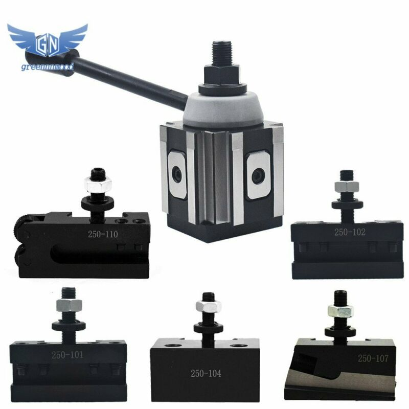 "AXA Size 250-100 Set Piston Type Quick Change Tool Post Set For Lathe 6- 12"""