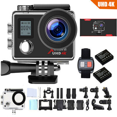 Campark Action Camera 4K/30fps Wifi Sport Waterproof Cam Underwater DV Camcoder