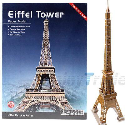 Eiffel Tower Model DIY 3D Puzzle France Paris Tour Building Model Assembling toy