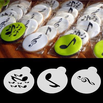 Music Note Cupcake Cookie Stencils Set Cake Decorating Art Shape Spray Tool