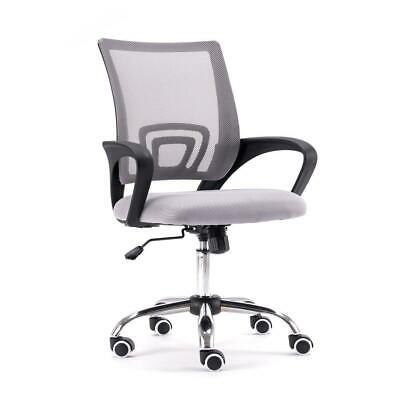 Ergonomic Executive Mesh Chair Swivel Mid-back Office Chair Computer Desk White
