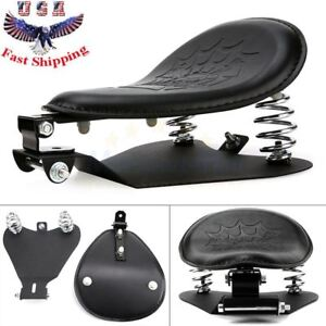 Skull Solo Seat Spring Bracket Mounting Pan Kit For Harley 48 XL 883 1200 Bobber