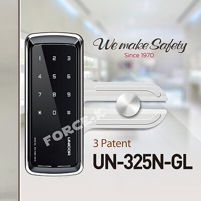 Unicor UN-325N-GL for Glass Door Keyless Lock Smart Digital Doorlock Passcode