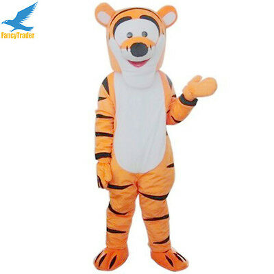Tigger Mascot Costumes Cartoon Tiger Fancy Dress Outfit Animal Party Halloween (Halloween Costumes Tiger)