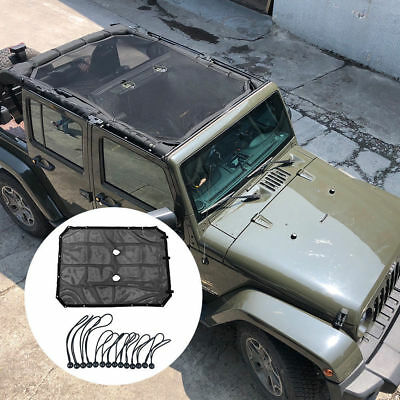 For Jeep Accessories Sun Shade Black Mesh for 2007-2018 Jeep Wrangler JK 4 Door