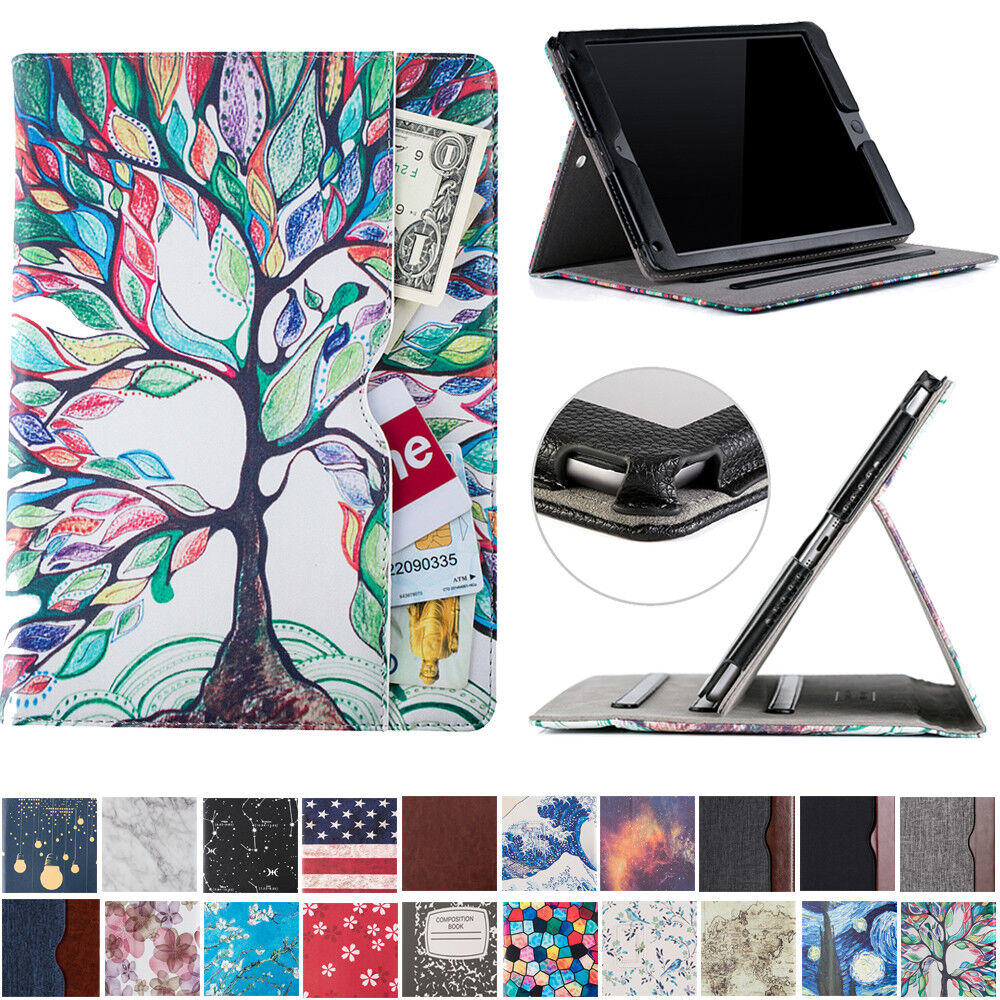 For Newest iPad 9.7 inch 6th Gen 2018 Folio Case with Pocket