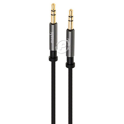 Moshi Mini Stereo Audio AUX Cable TRS 3.5mm Male Plug For iPhone Android iPod (Iphone Mini Stereo Cable)