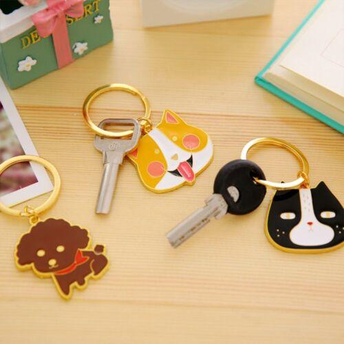 Dog Cat Animal Pattern Key Ring Key Chain Keys Holder Handba