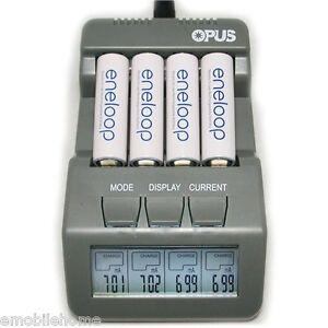 Opus-BT-C700-LCD-4-Slot-Smart-Ioni-Di-Litio-NiMH-AA-AAA-Caricabatterie-SPINA-EU