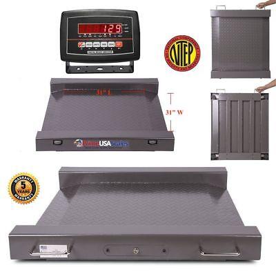 31x31 Platform Portable Floor Scale Drum Wheel Chair Scale 1000 Lb X .2 Lb