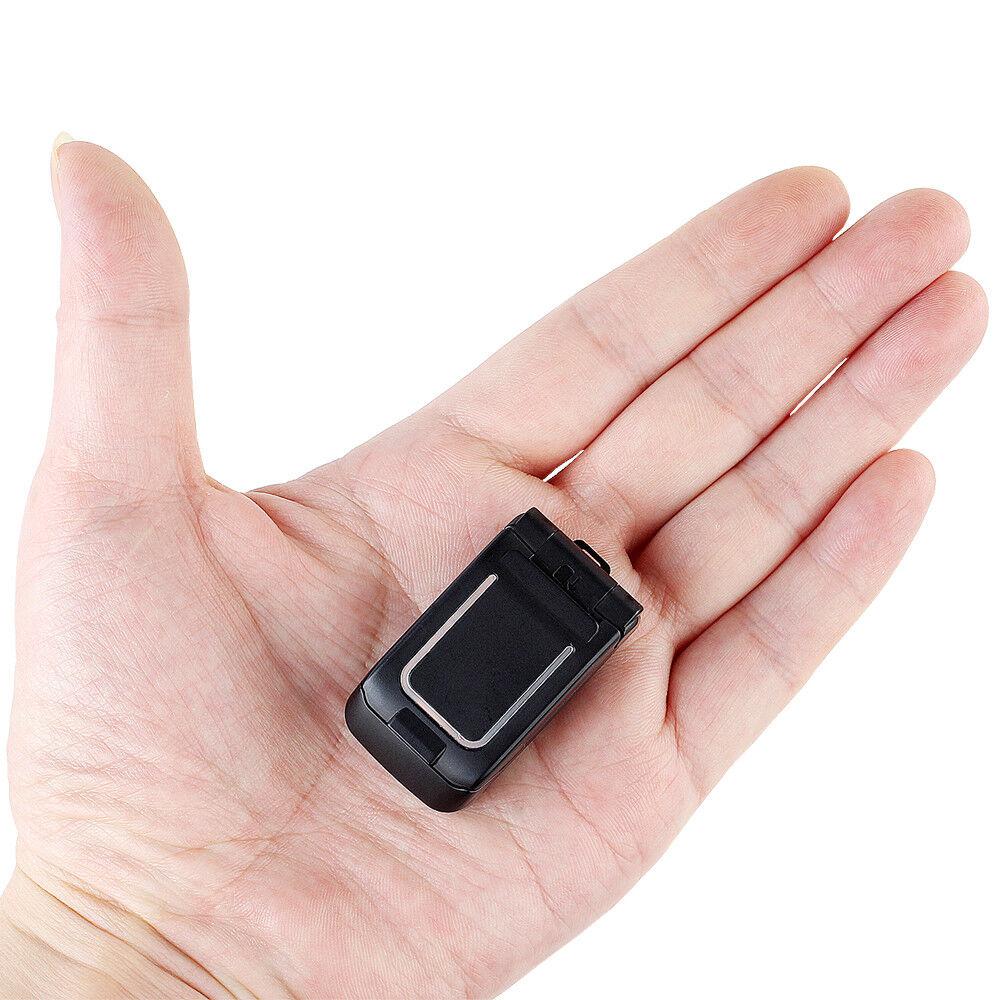 LONG-CZ J9 Mini Flip Phone 0.66 Bluetooth Dialer Kleinstes Handy für Kinder