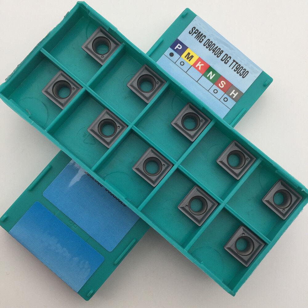Wendeplatten 10 x TaeguTec SPMG 060204-DG TT9030 Wendeschneidplatten Inserts