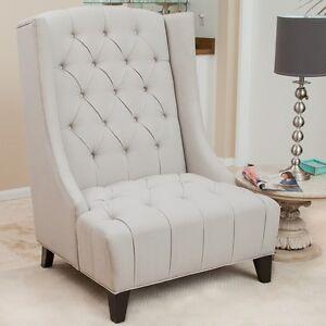 Upholstered Wingback Chair Ebay
