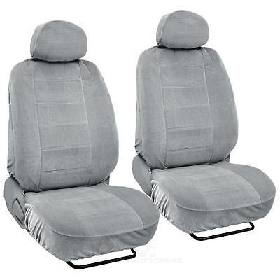 Gray Full Cloth Low Back Auto Seat Covers Encore style 4 pc Premium
