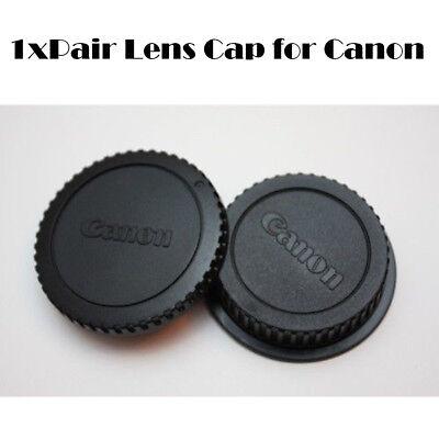 Rear Lens Cover + Camera Body Front Cap for Canon EOS EF EF-S DSLR SLR Lens Canon Eos Camera Body Cap