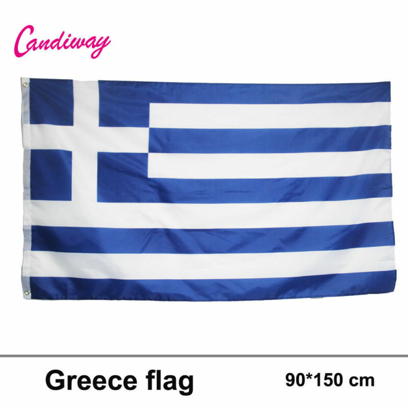 Hellenic Republic Banner Greek Greece country flag 90*150CM Ελλάδα Flag
