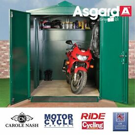 MOTORCYCLE STORAGE SHED / BIKE SAFE / SECURE SHED 9FT X 5FT 2""