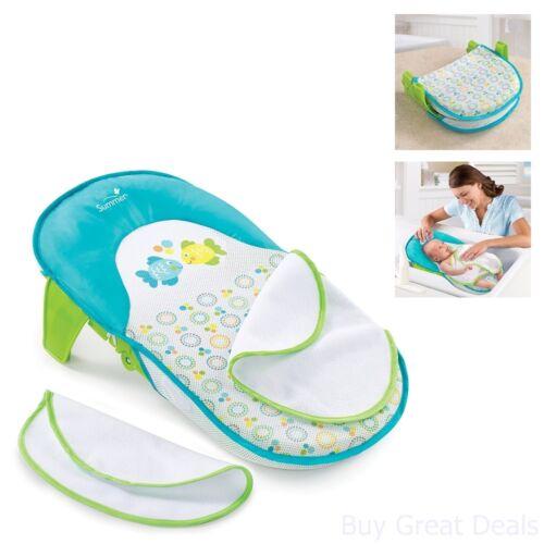 Infant Bath Sling Baby Bath Tub Home Bathroom Bathing Seat Blue Green Boys New