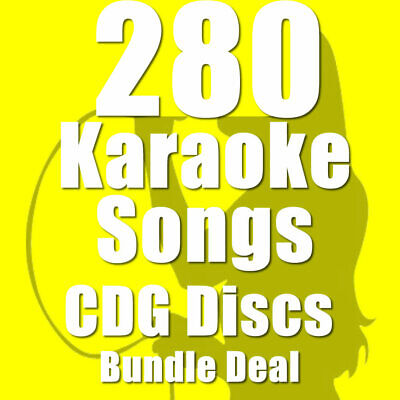 Karaoke Disc Set With Words CDG CD+G Pop Rock 280 Top Chart Hits 16 Discs Set i