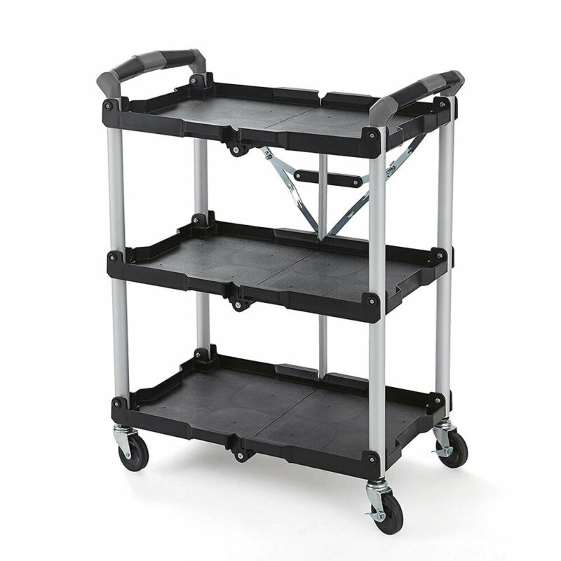 Olympia Tools 85-188 Pack N Roll Collapsible Storage Service Cart with Wheels