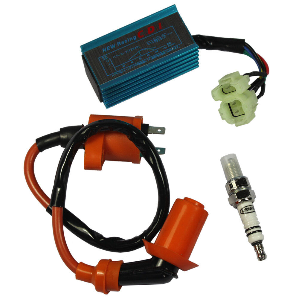 Scooter Performance Racing Ignition Coil Spark Plug Cdi Gy6 50cc Wiring 125cc 150cc