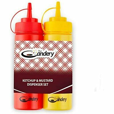 Hot Dog Accessories Set- Ketchup And Mustard Squeeze Bottles For Carnivals Amp