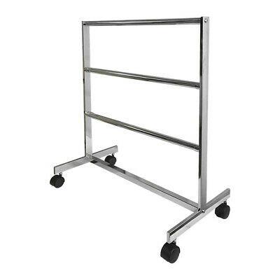 31-12l X 15w Chrome Finish 3 Bars Clothing Rack Garment Rack Retail Fixture