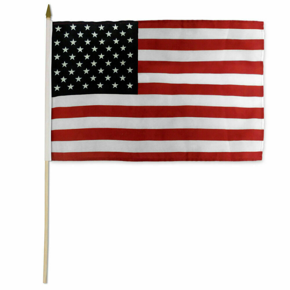 usa stick flag 12x18in fire resistant us