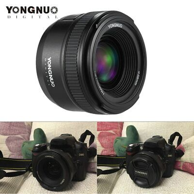 YONGNUO 35mm F2.0 YN35mm AF/MF Focus Lens for Nikon F Mount D7100 D3200 Camera