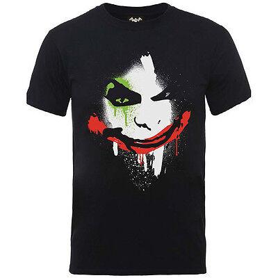 Batman Arkham City Halloween Joker Gesicht Offiziell Dc Comics T-Shirt