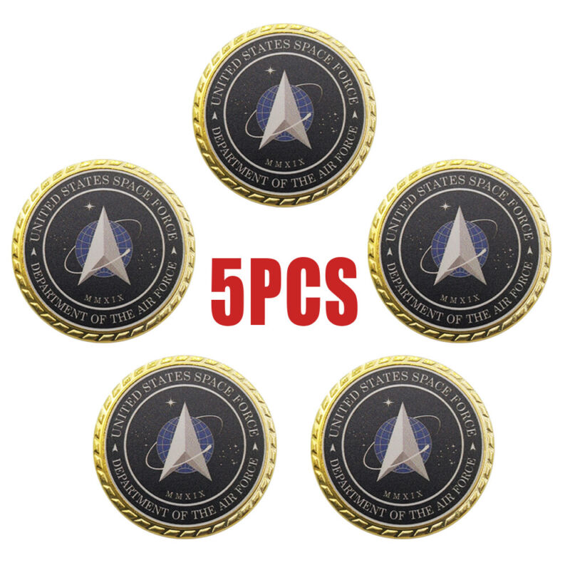 5PCS United States Space Force/Command Air Force Challenge Coins