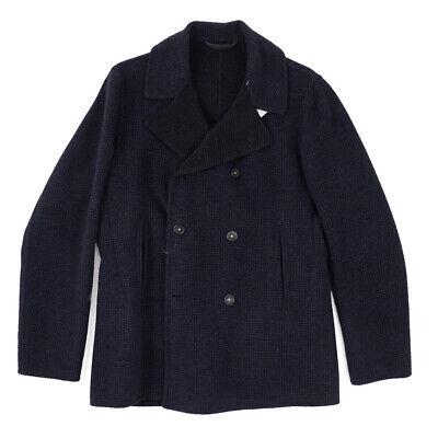 New $1395 MASSIMO ALBA Soft-Constructed Unlined Wool Pea Coat M (Eu 48)