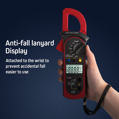 Digital Clamp Multimeter Auto Range Lcd Tester Ac Dc Ammeter Voltmeter Ohmmeter