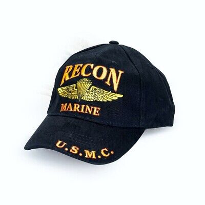 US Marine Corps RECON Ball Cap Direct Embroidery Licensed USMC Jump Wings Hat