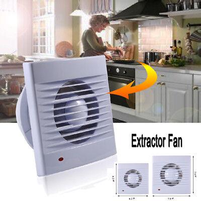 "110V 4"" 6"" Silent Wall Extractor Ventilation Fan Window Bathroom Kitchen Toilet"
