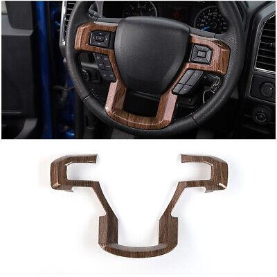 Wood Grain Steering Wheel Moulding Panel Cover Trim Bezel for 15-19 Ford -